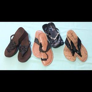 Lot of 4 Pair Size 8 Women's Sandals